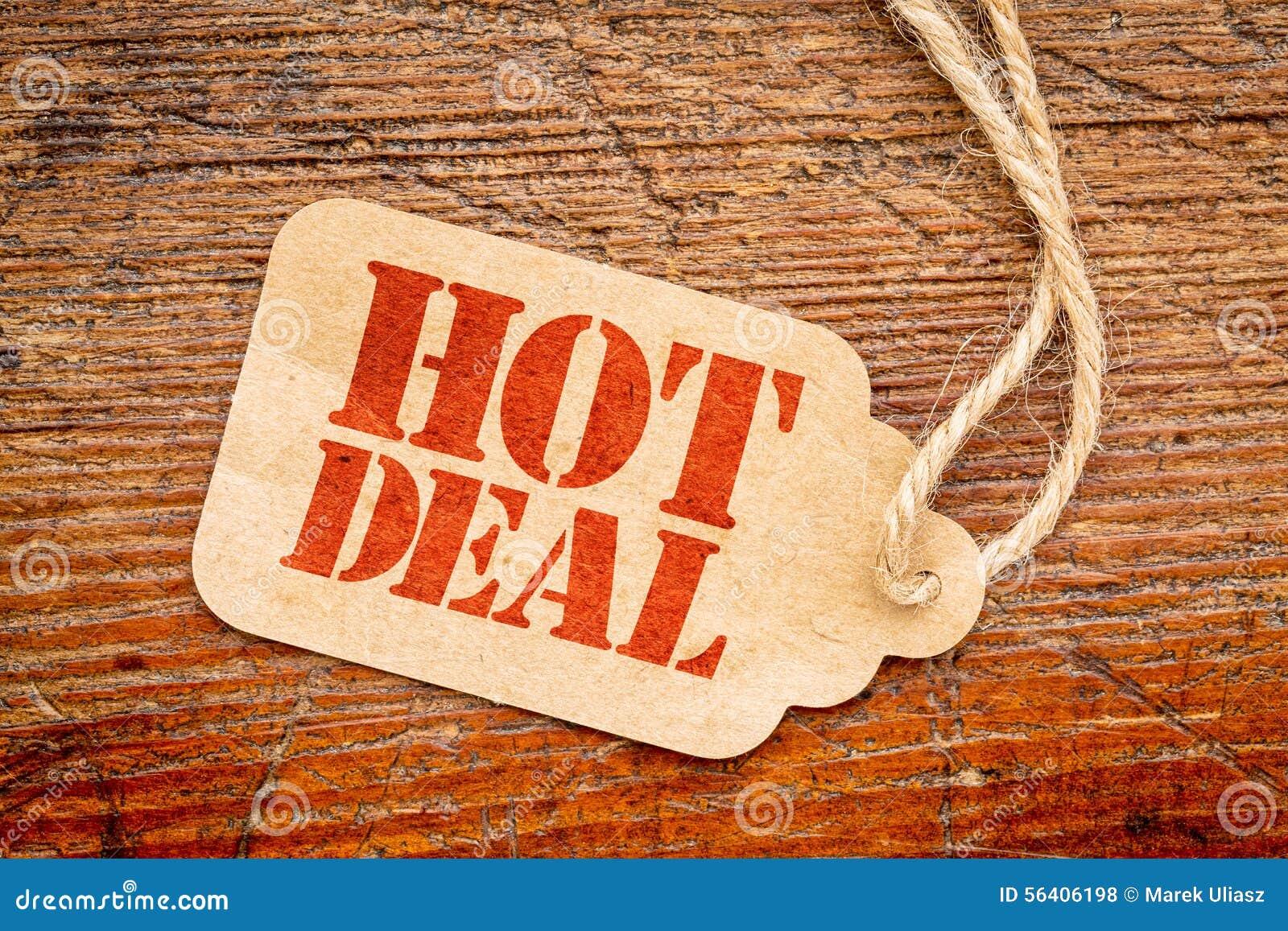 Gorący transakcja znak na metce