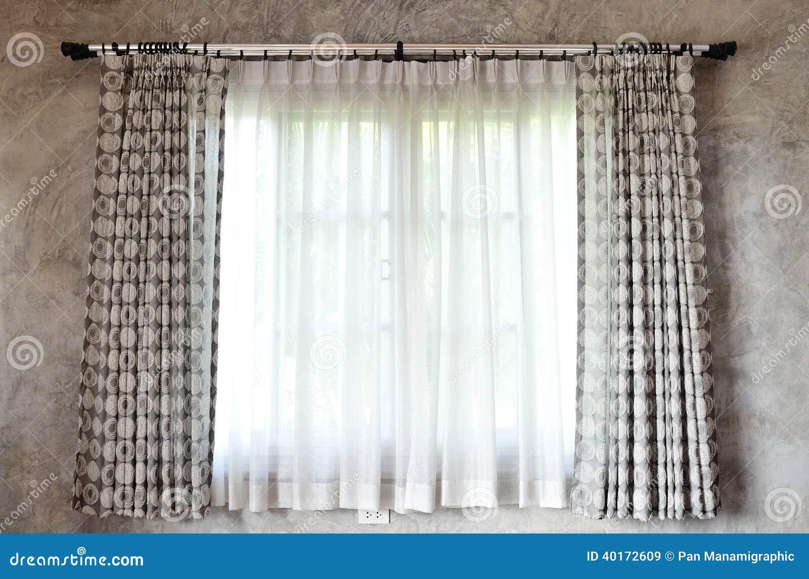 Gordijn en venster