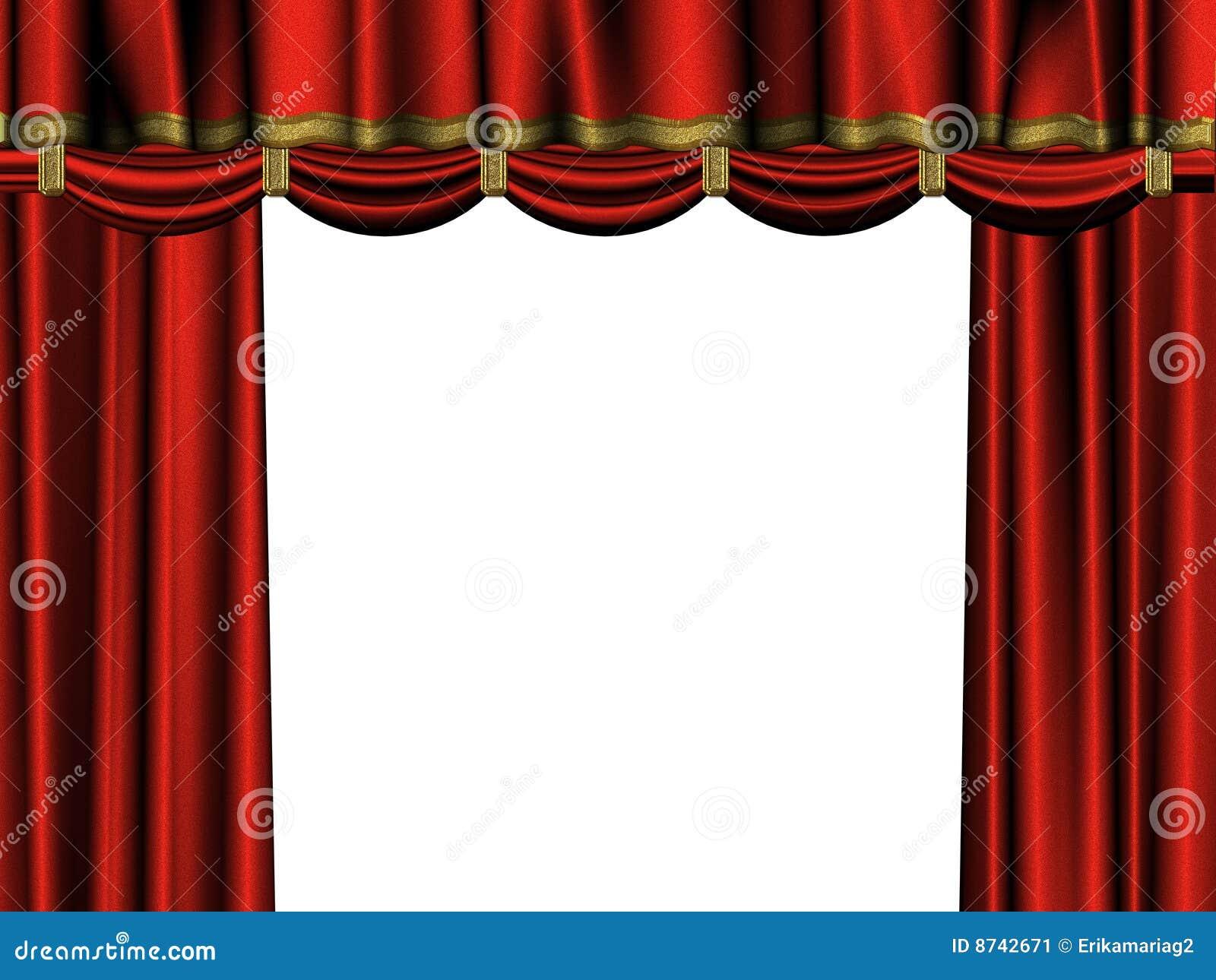 Gordijn van rood fluweel stock afbeelding   afbeelding: 8742671