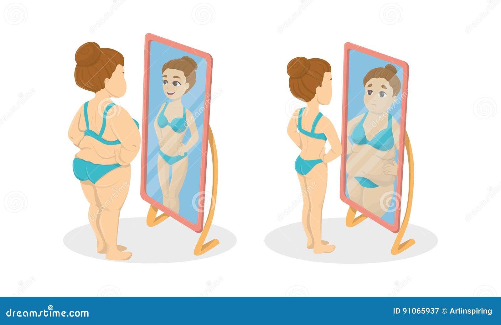 Gordo Y Flaco Ilustración Del Vector Ilustración De Imagen