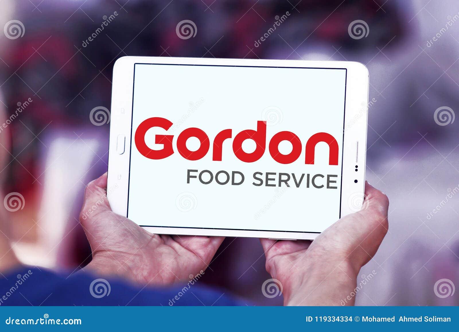 Gordon Food Service logo editorial stock image  Image of logotype