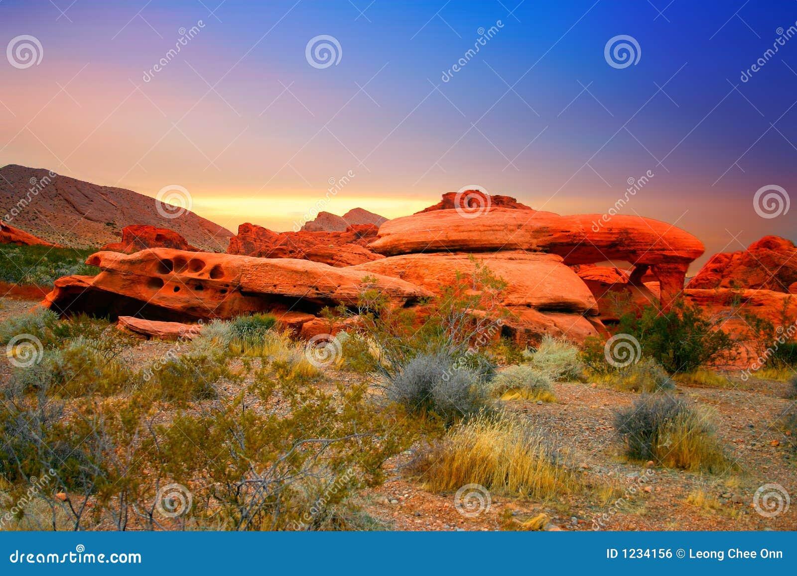 Gorge rouge de roche, Nevada
