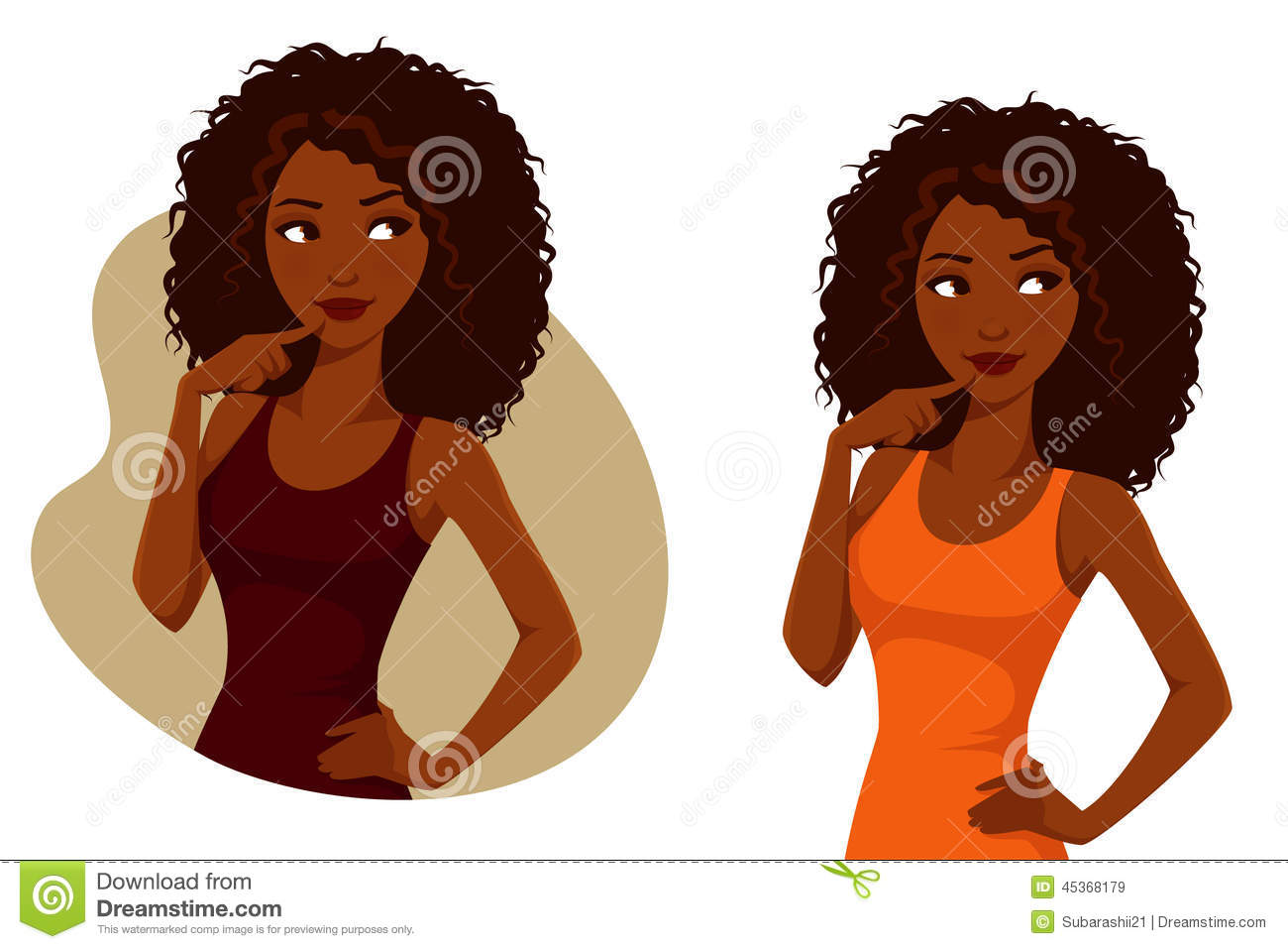 clip art curly hair girl - photo #36