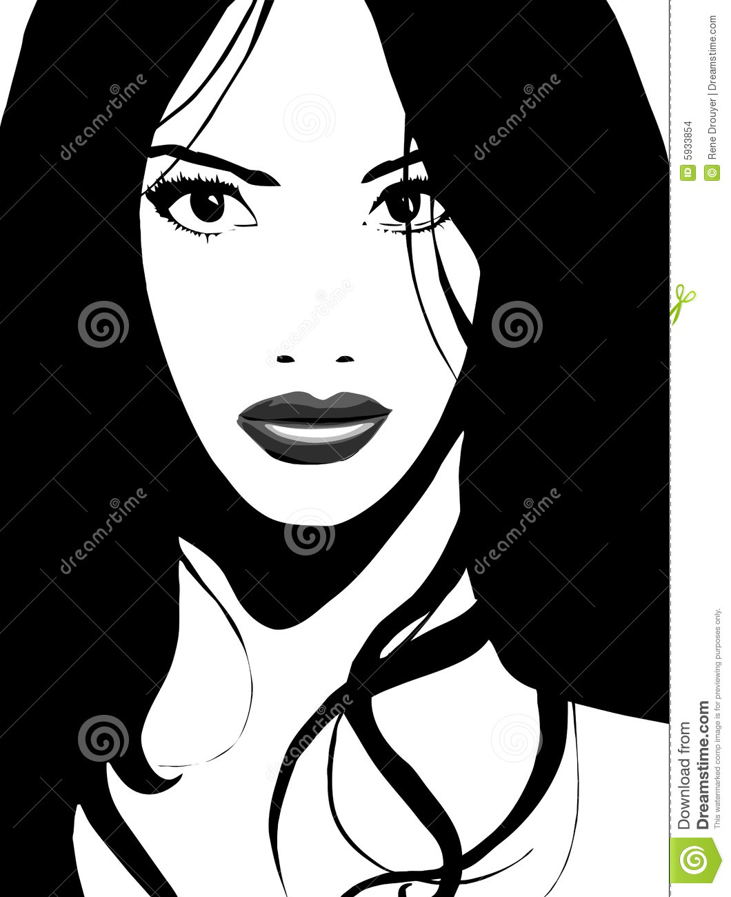 gorgeous asian girl vector stock images   image 5933854