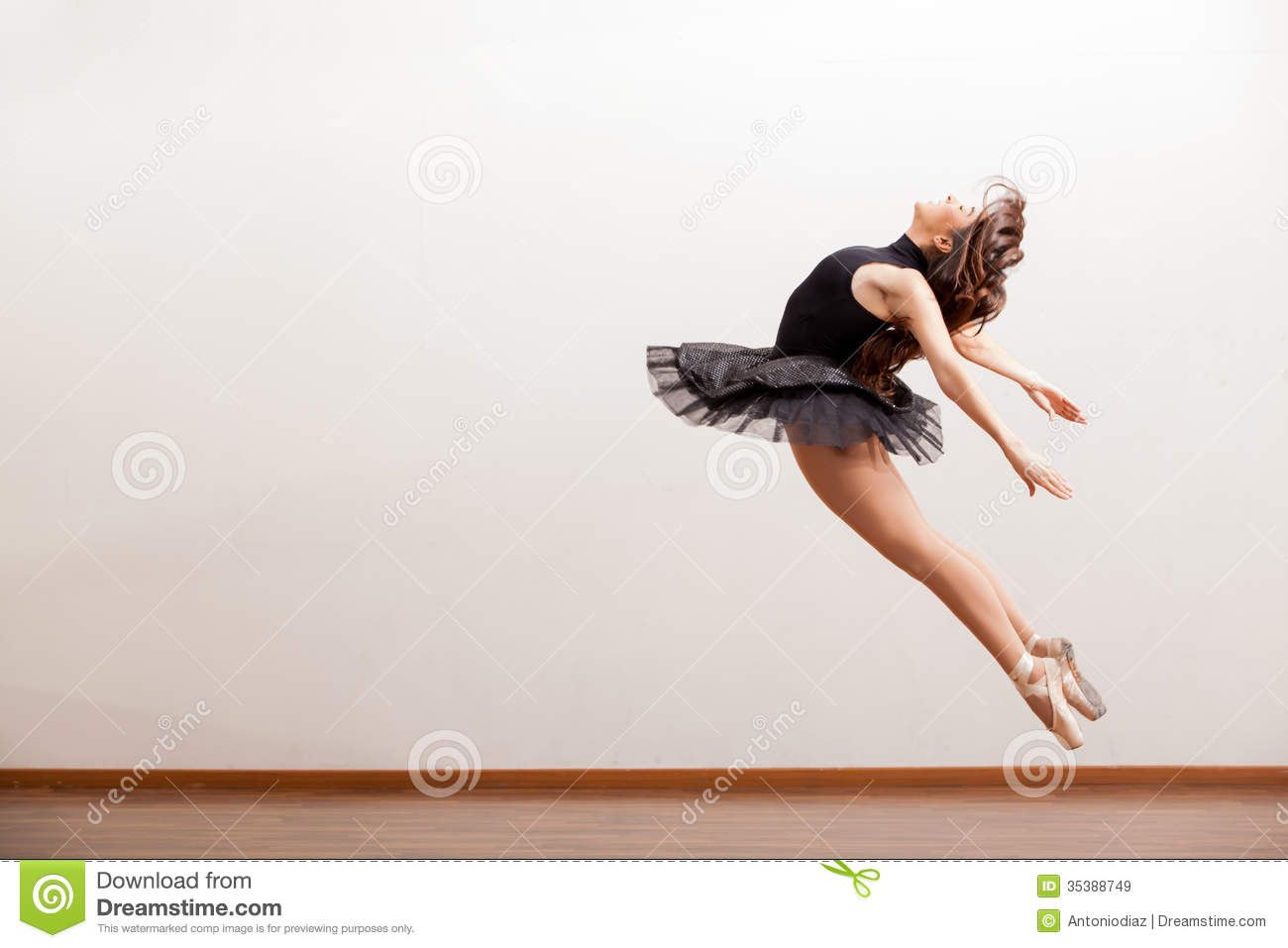 Gorgeous Ballerina During A Jump Stock Image - Image: 35388749