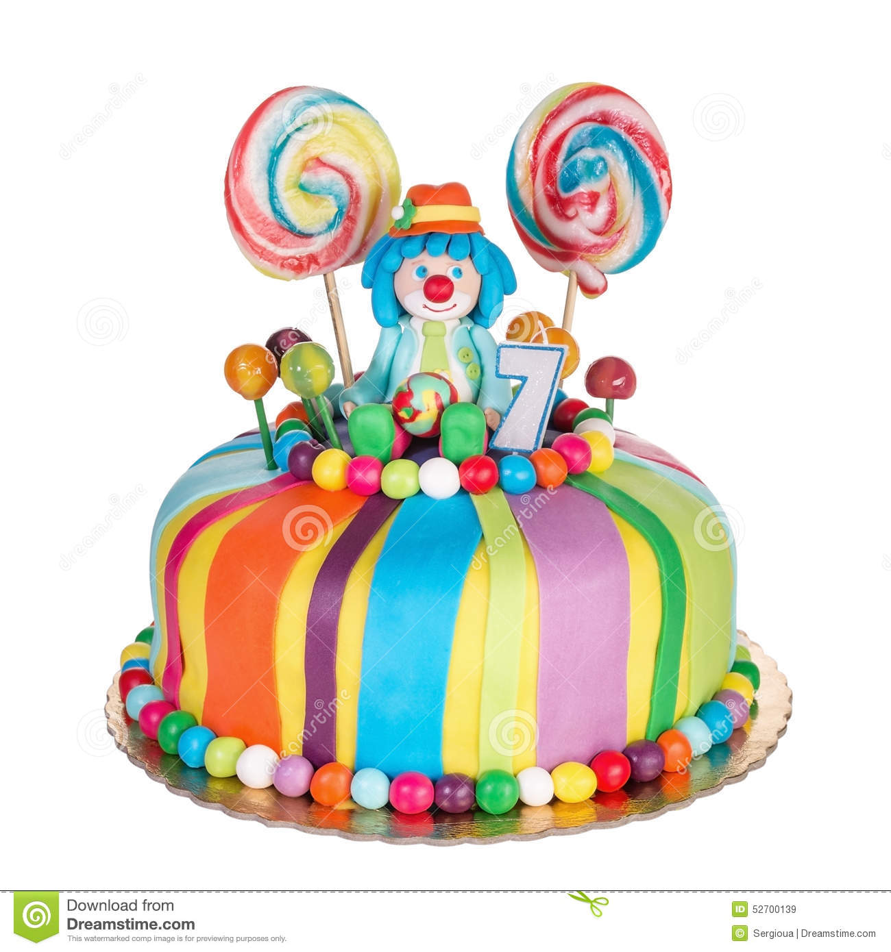 Fine Gorgeous Birthday Cake For Children Stock Image Image Of Cakes Personalised Birthday Cards Veneteletsinfo