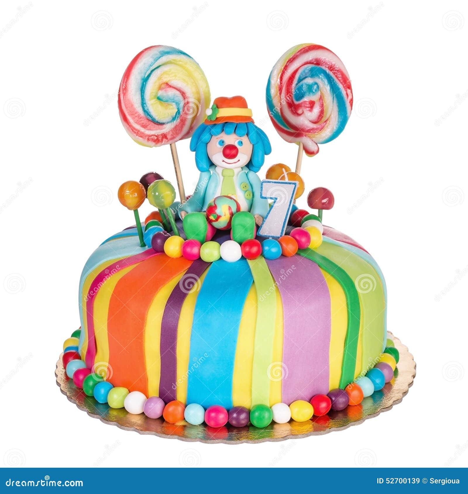 Stupendous Gorgeous Birthday Cake For Children Stock Image Image Of Cakes Funny Birthday Cards Online Fluifree Goldxyz