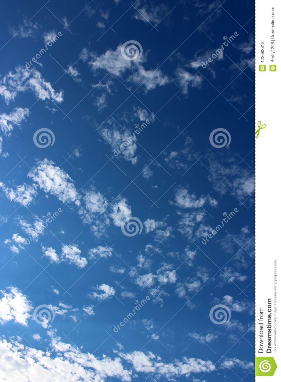 Download Gorgeous Blue Skies With Cloud Cover