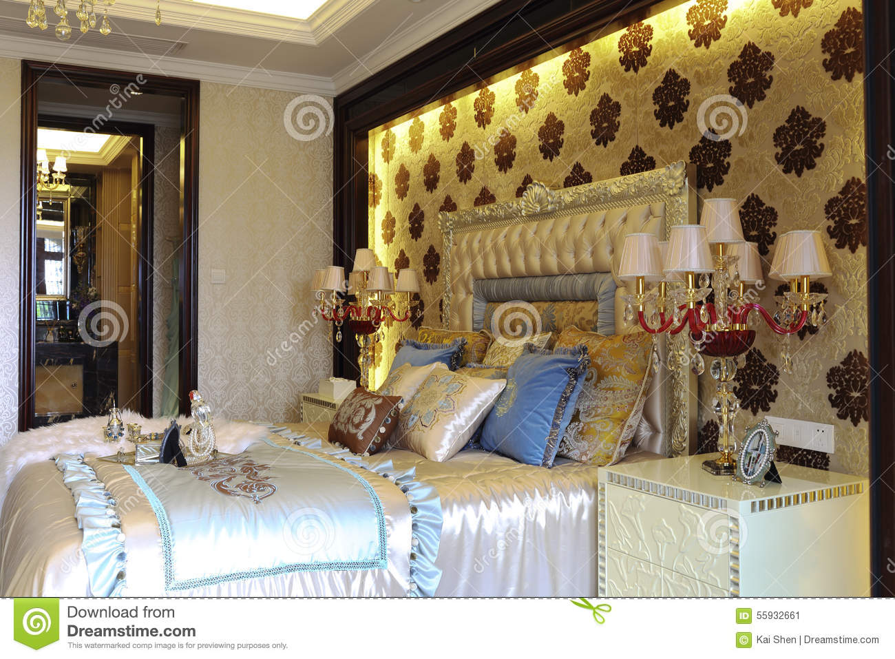 Spots of curtain wall in the bedroom stock photo image 55932661 - Spots of color in the bedroom linens and throws ...