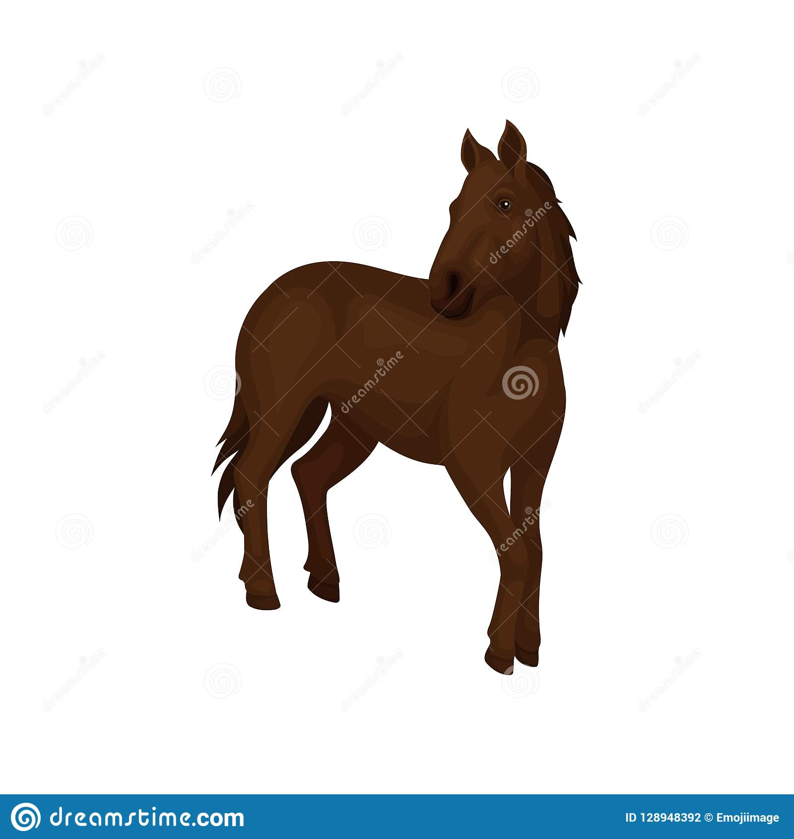 Flowing Mane by Joni Solis. A pretty headed horse with a long flowing mane  and ears pricked forward. | Horse stencil, Horse drawings, Horse tattoo