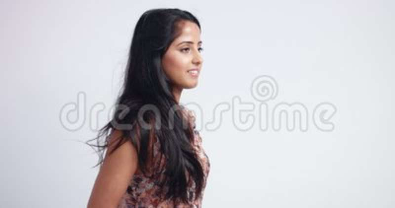 Gorgeous Indian Woman In Flowy Sleeveless Blouse Stock Footage Video Of Face Confident 102800970