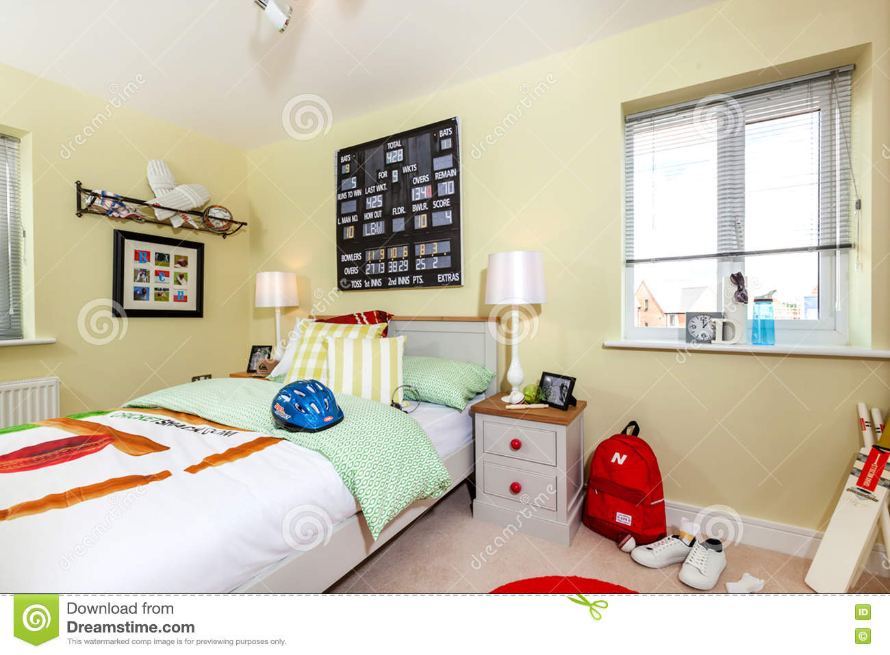 Show Home Bedroom Gorgeous Kids Show Home Bedroom Interior Editorial Image Image