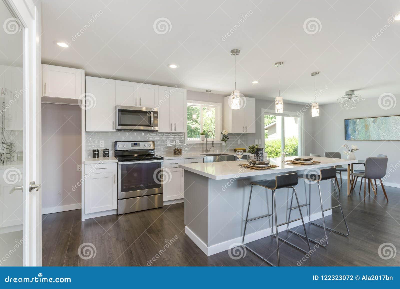Gorgeous Kitchen With Open Concept Floorplan Stock Photo Image Of Large Kitchen 122323072