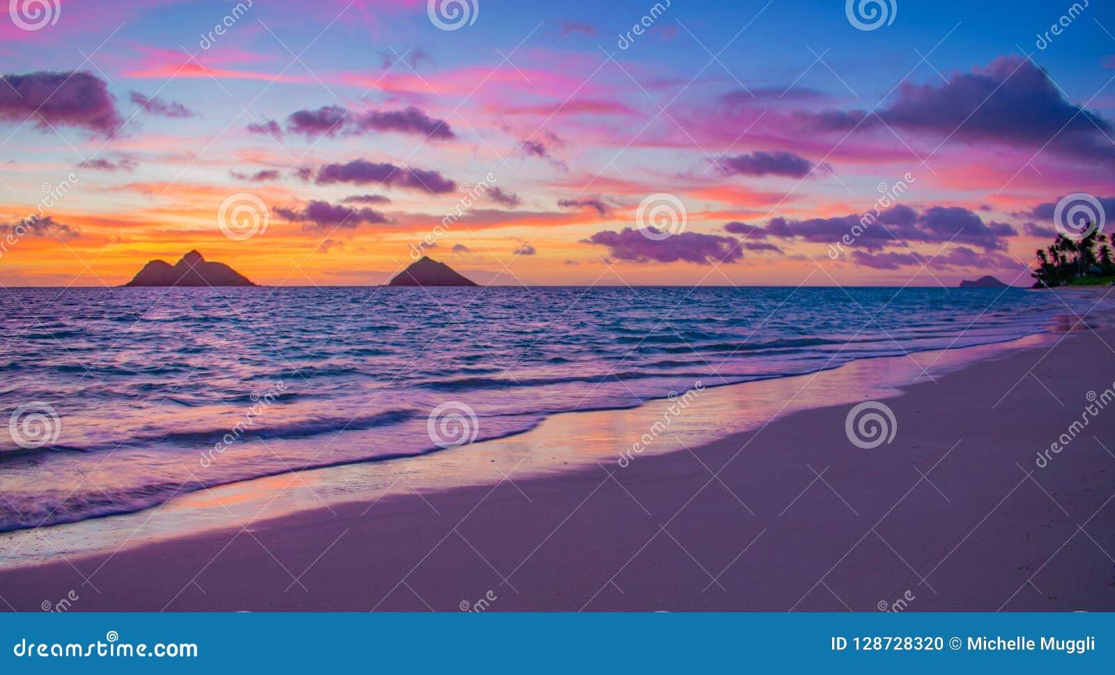Gorgeous Lanikai Beach Sunrise Stock Photo Image Of Clouds