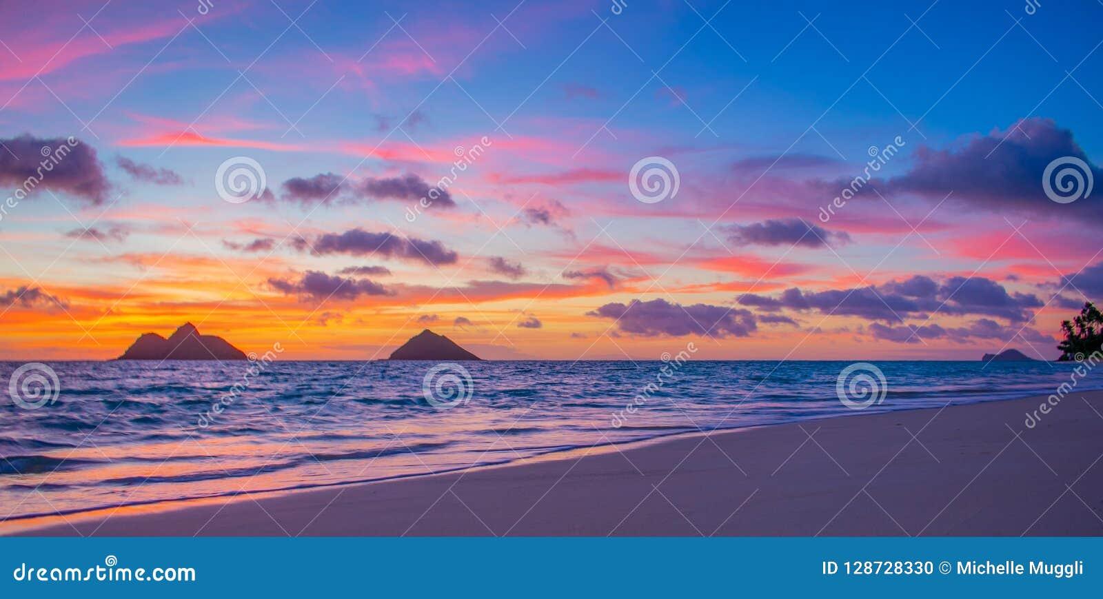 Gorgeous Lanikai Beach Sunrise Stock Photo Image Of
