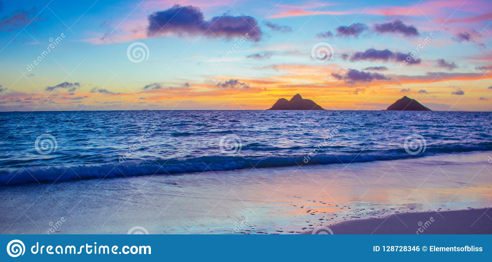 Gorgeous Lanikai Beach Sunrise Stock Photo Image Of Beach