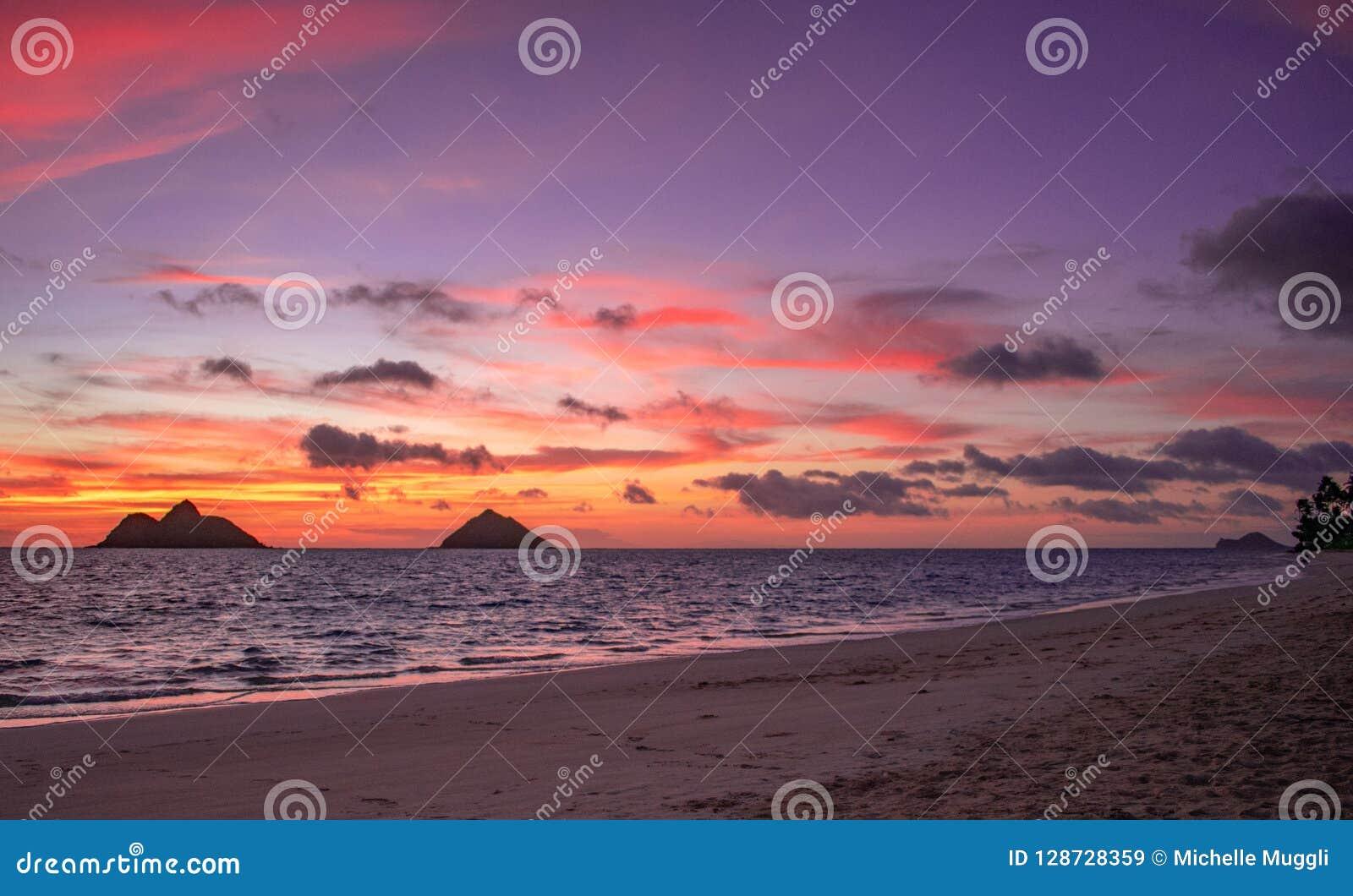 Gorgeous Lanikai Beach Sunrise Stock Image Image Of