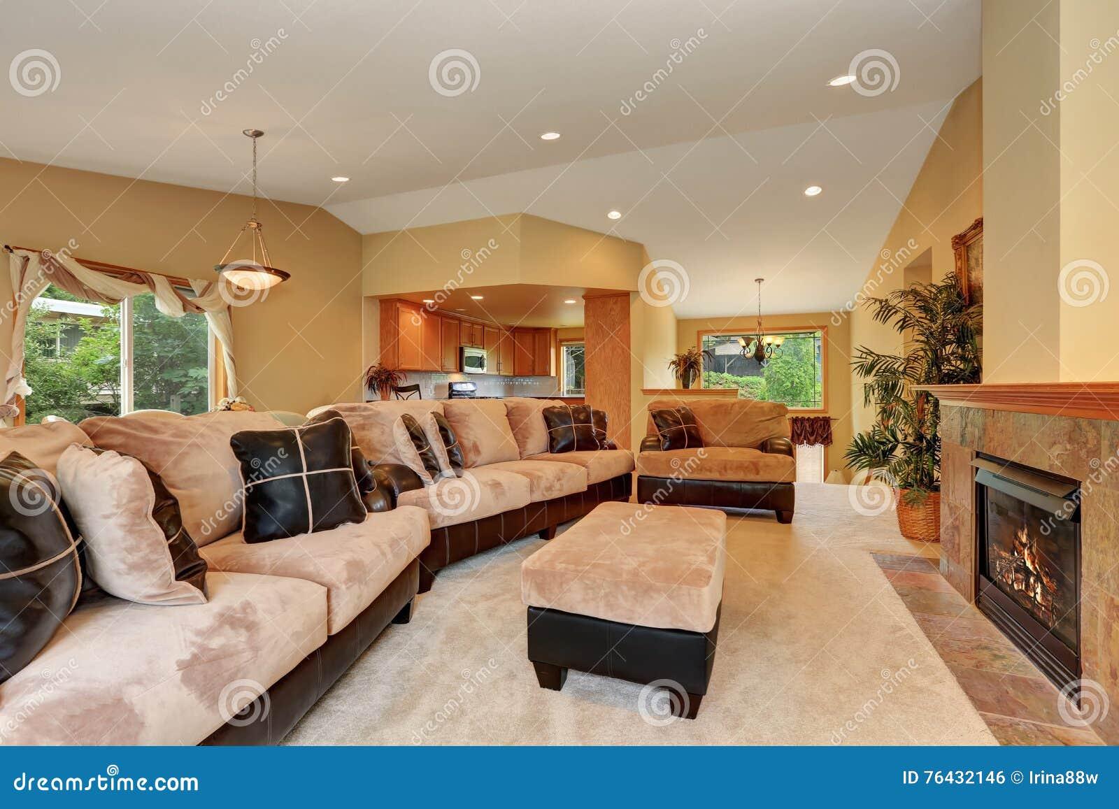 Fabulous Gorgeous Living Room Interior With Beige Velvet And Leather Spiritservingveterans Wood Chair Design Ideas Spiritservingveteransorg