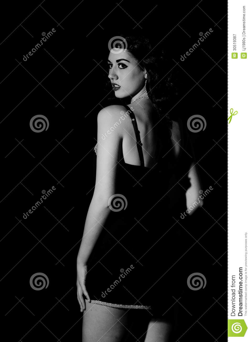 Gorgeous Low Key Hollywood Inspired Woman Royalty Free ...