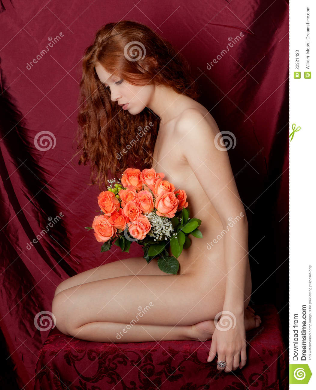 Remarkable, very Naked women in flowers