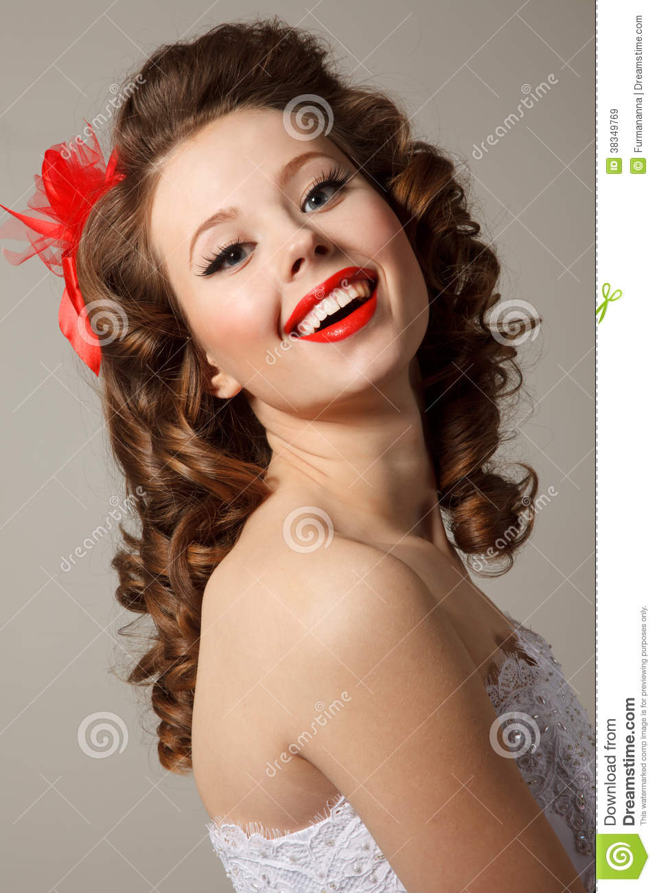 Gorgeous Pin Up Bride Royalty Free Stock Images Image 38349769