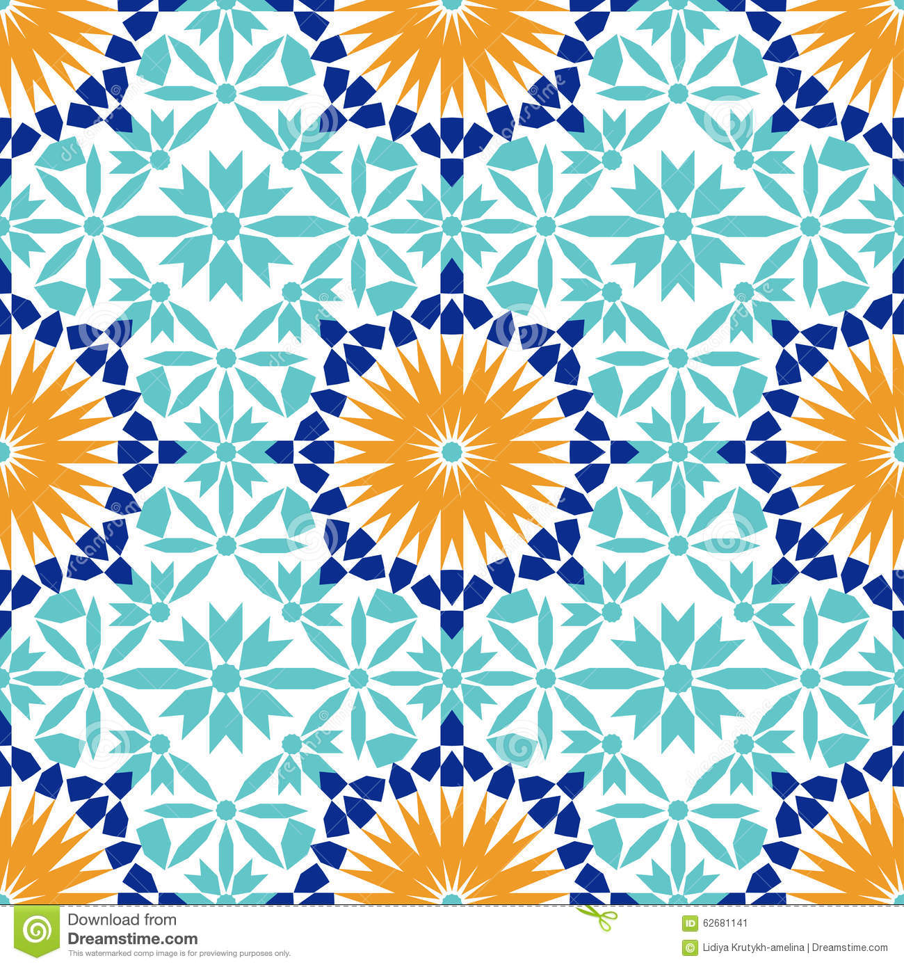Can I Put Wallpaper On Top Of Wallpaper: Gorgeous Seamless Pattern From Blue Moroccan Tiles