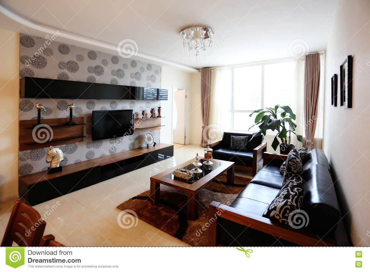 gorgeous tidy living room stock image image of home 75453831 rh dreamstime com