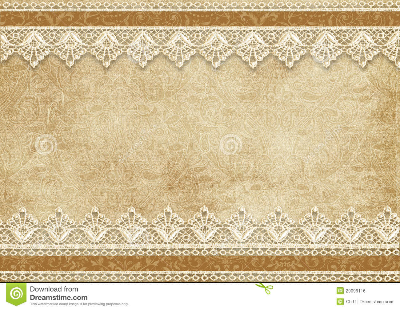 Gorgeous Vintage Background With Lace Royalty Free Stock ...