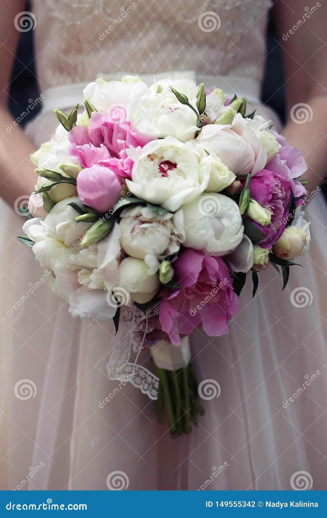 Gorgeuos-Hochzeitsblumenstrau? im Rosa und im Pfirsich