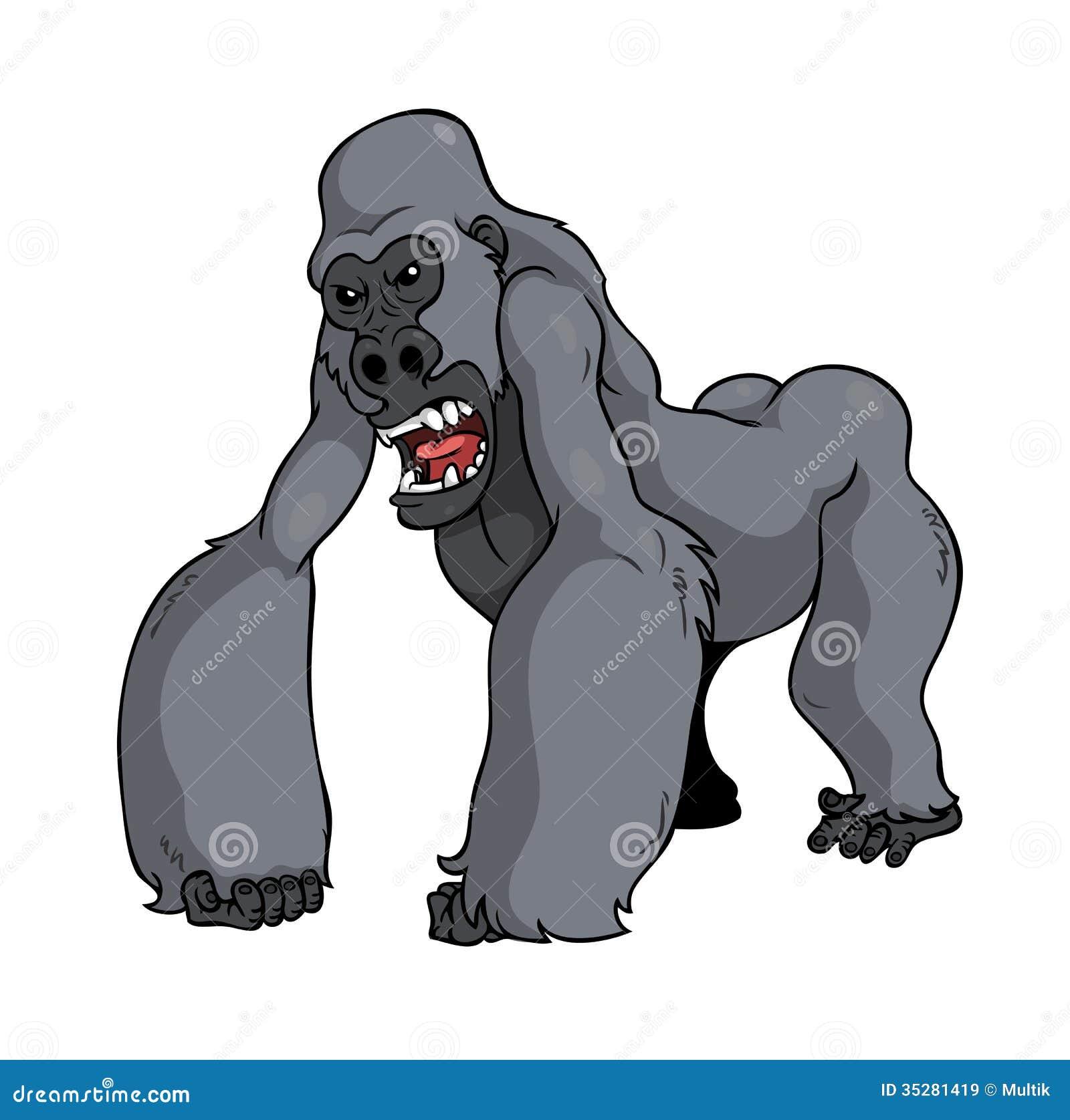 angry cartoon gorilla - photo #17