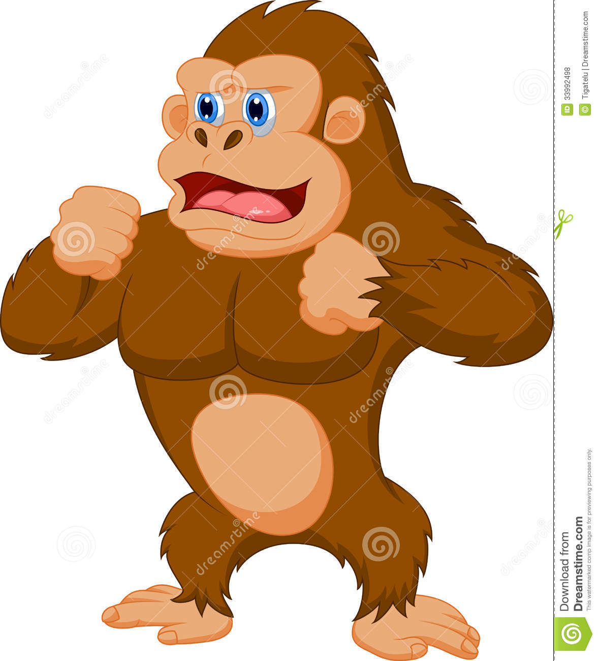 Gorilla Cartoon Stock Vector Illustration Of Kong Mammal