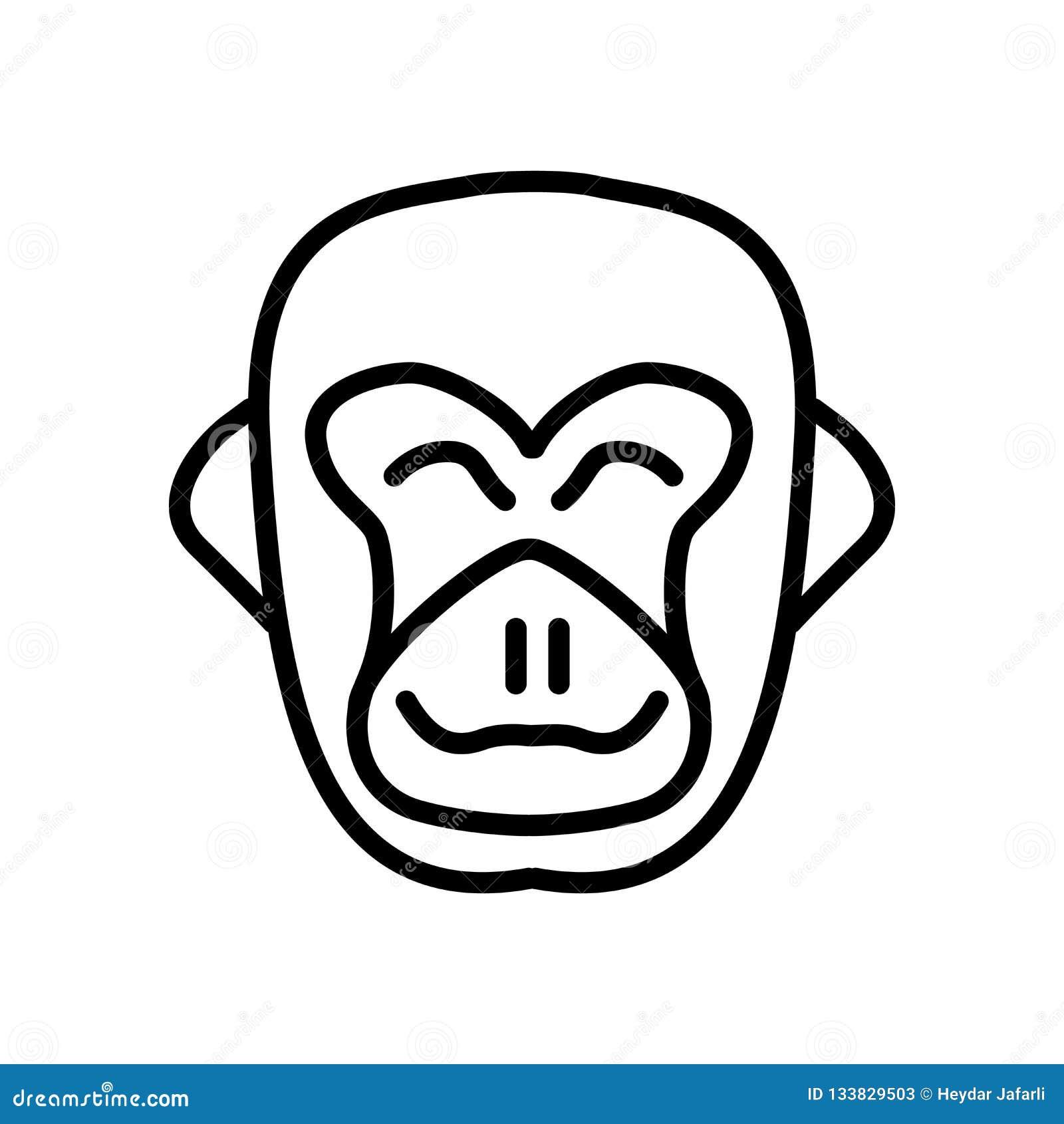 20334dea1 Gorilla icon vector isolated on white background, Gorilla transparent sign.  More similar stock illustrations