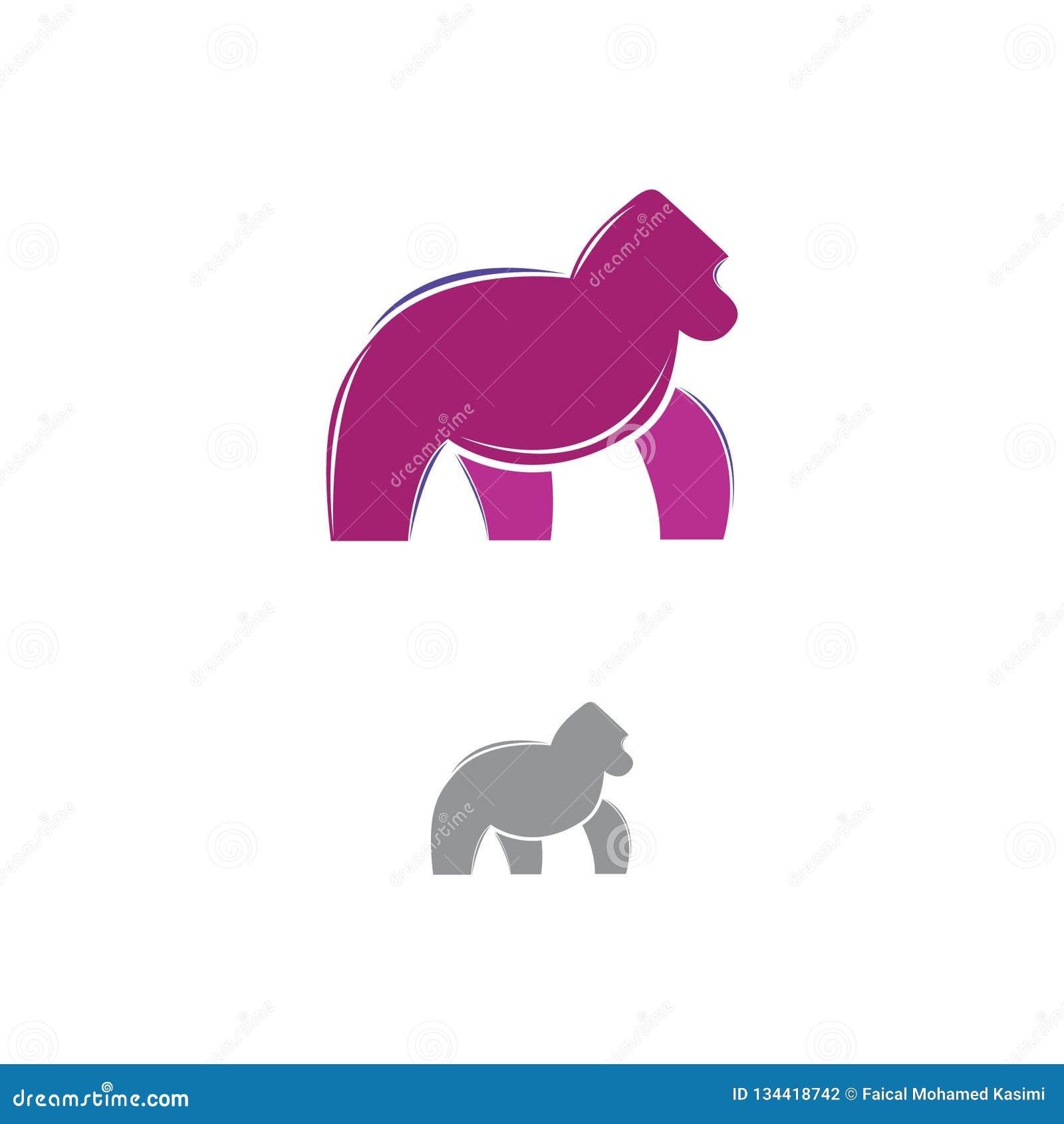 Gorilla Logo Design 2019 New Year Stock Illustration Illustration Of Studio Gorilla 134418742