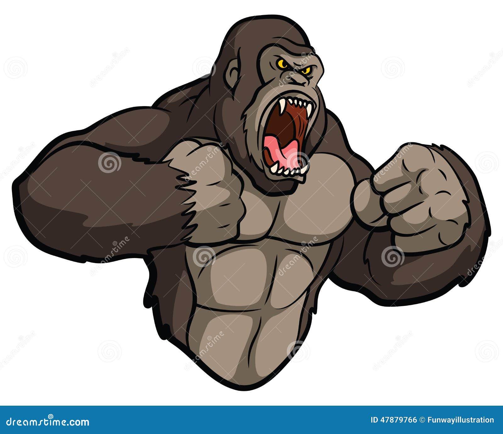 muscular silverback gorilla