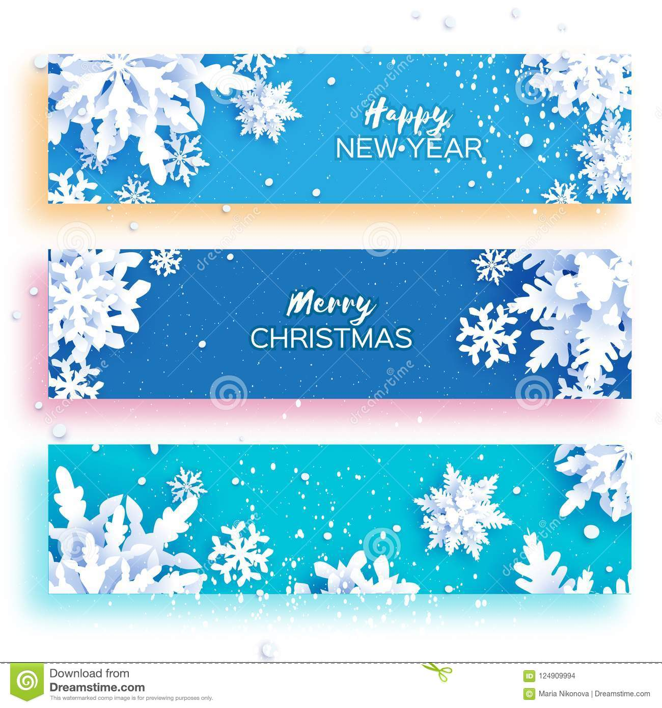 3 gorizontal merry christmas and happy new year banner white paper cut snowflakes origami decoration background stock vector illustration of origami frozen 124909994 https www dreamstime com gorizontal merry christmas happy new year banner white paper cut snowflakes origami decoration background gorizontal merry image124909994