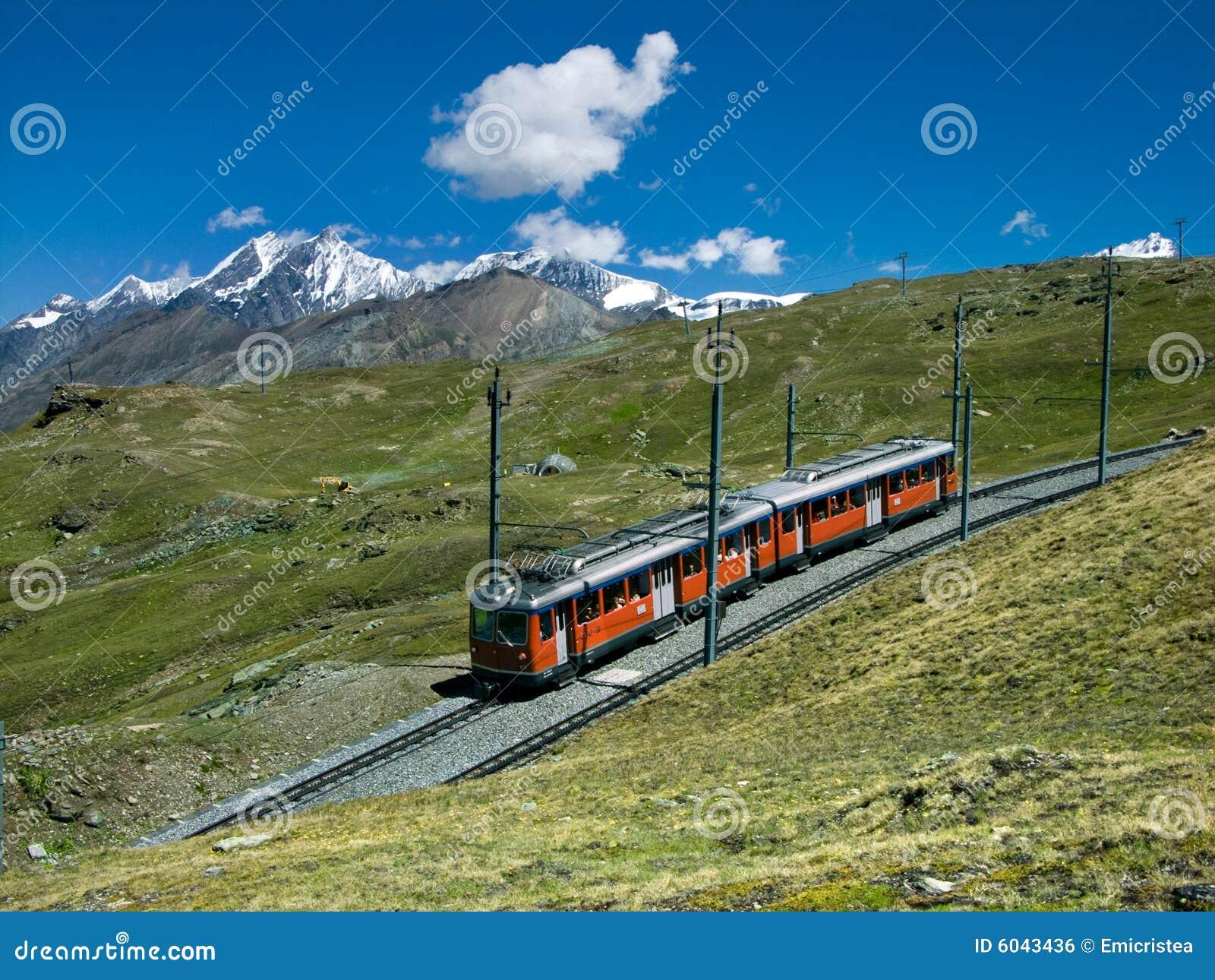 Gornergrat Train To Zermatt Stock Photo Image 6043436