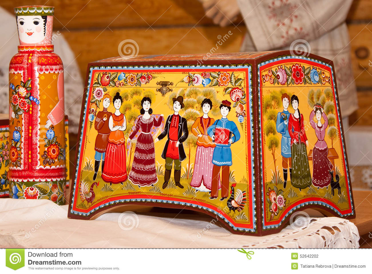 Gorodets painting editorial photography image 52642202 for Folk art craft paint