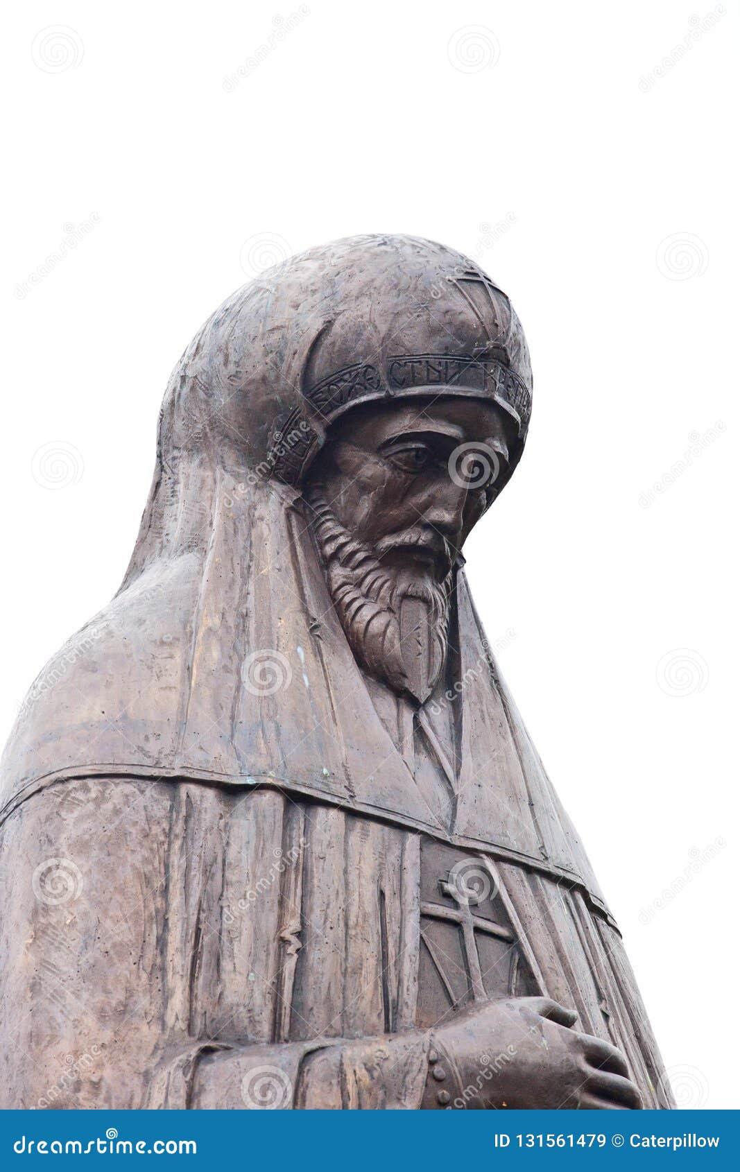 Gorodets Rosja 5 Oktober 2018 Zabytek książe Aleksander Nevsky w jego miejscu śmierć, w Feodorovsky monasterze w Gorodets-