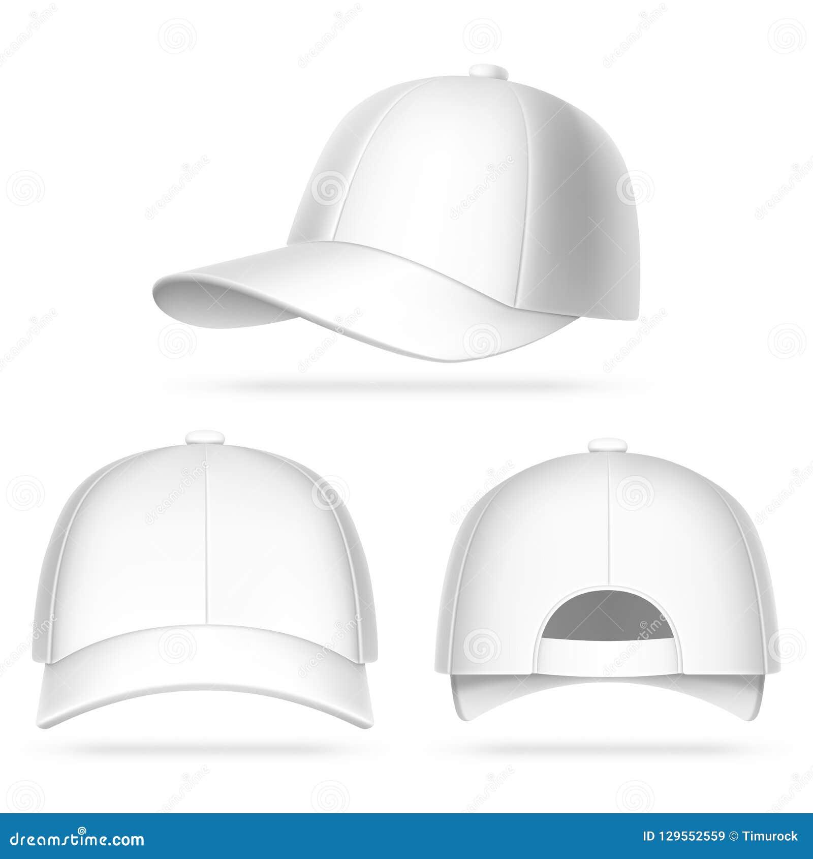 Gorra de béisbol blanca ilustración del vector. Ilustración de ... e81ebe43928