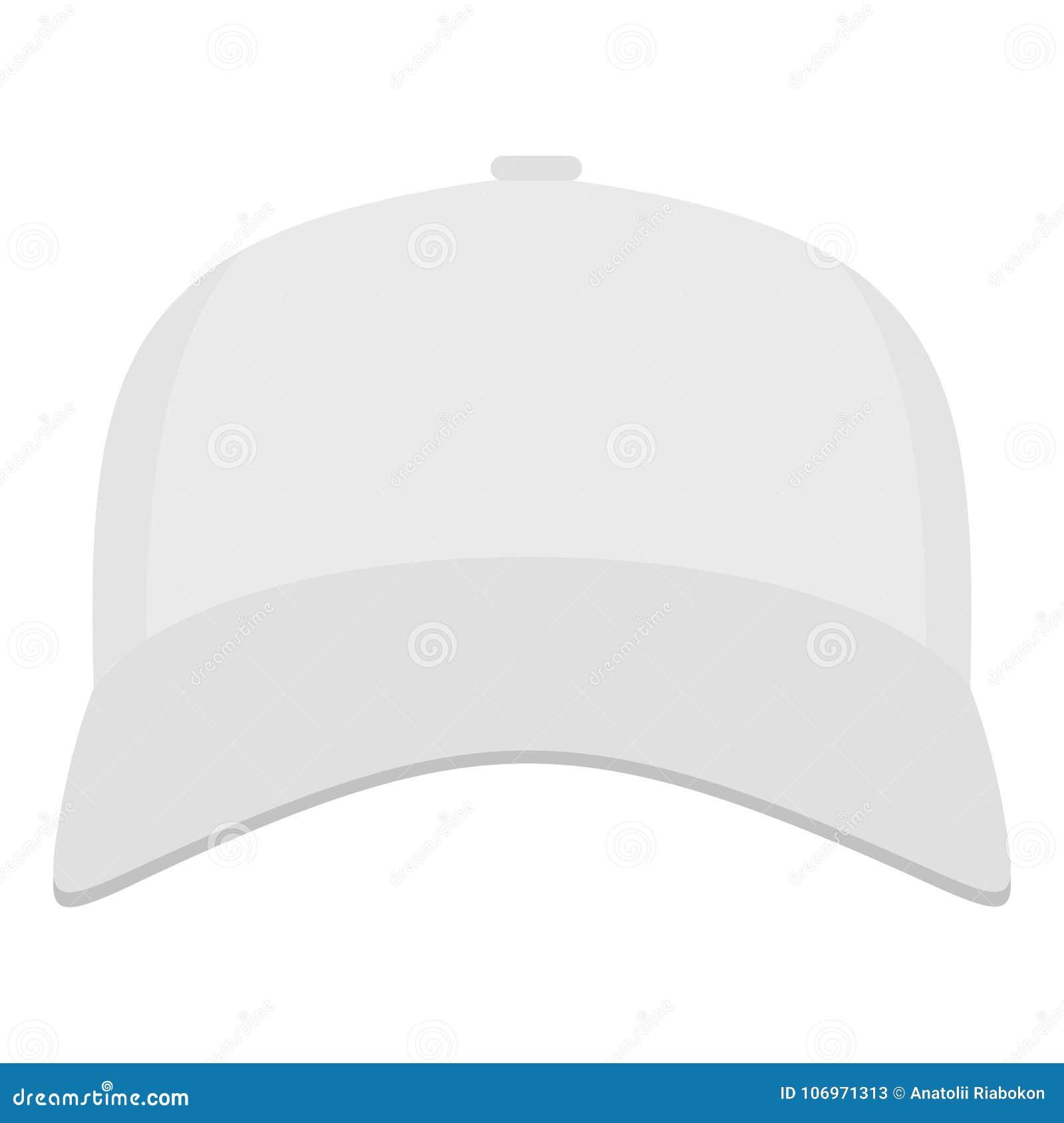 Gorra De Béisbol Blanca En El Icono Delantero 26827669abf