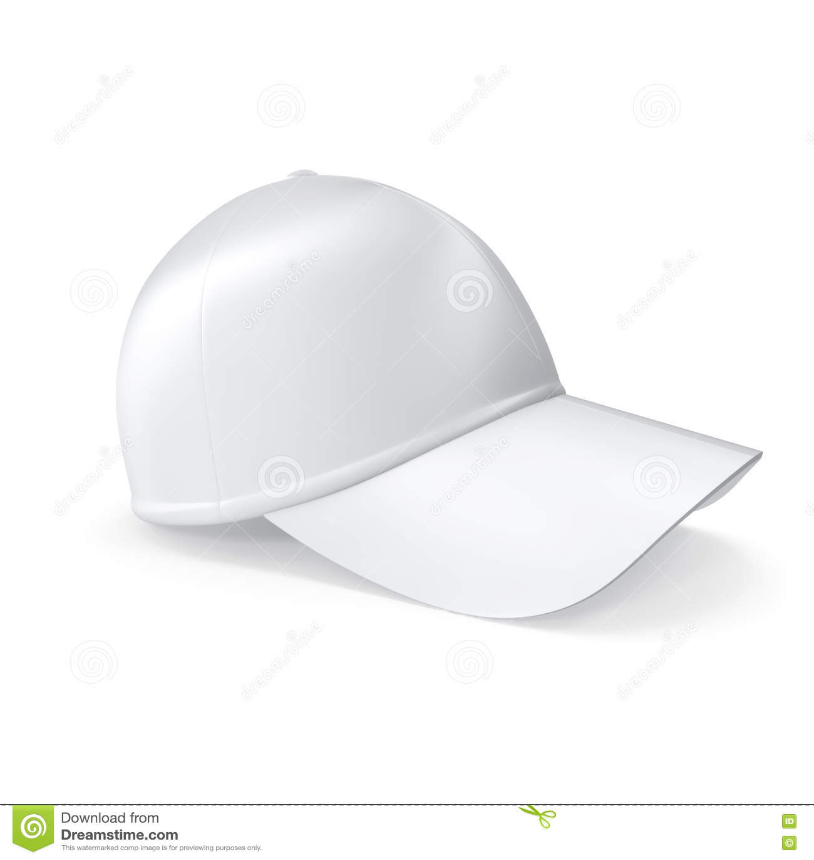 Gorra De Béisbol Blanca Realista Aislada En El Fondo Blanco Stock de ... d1302ab09c0
