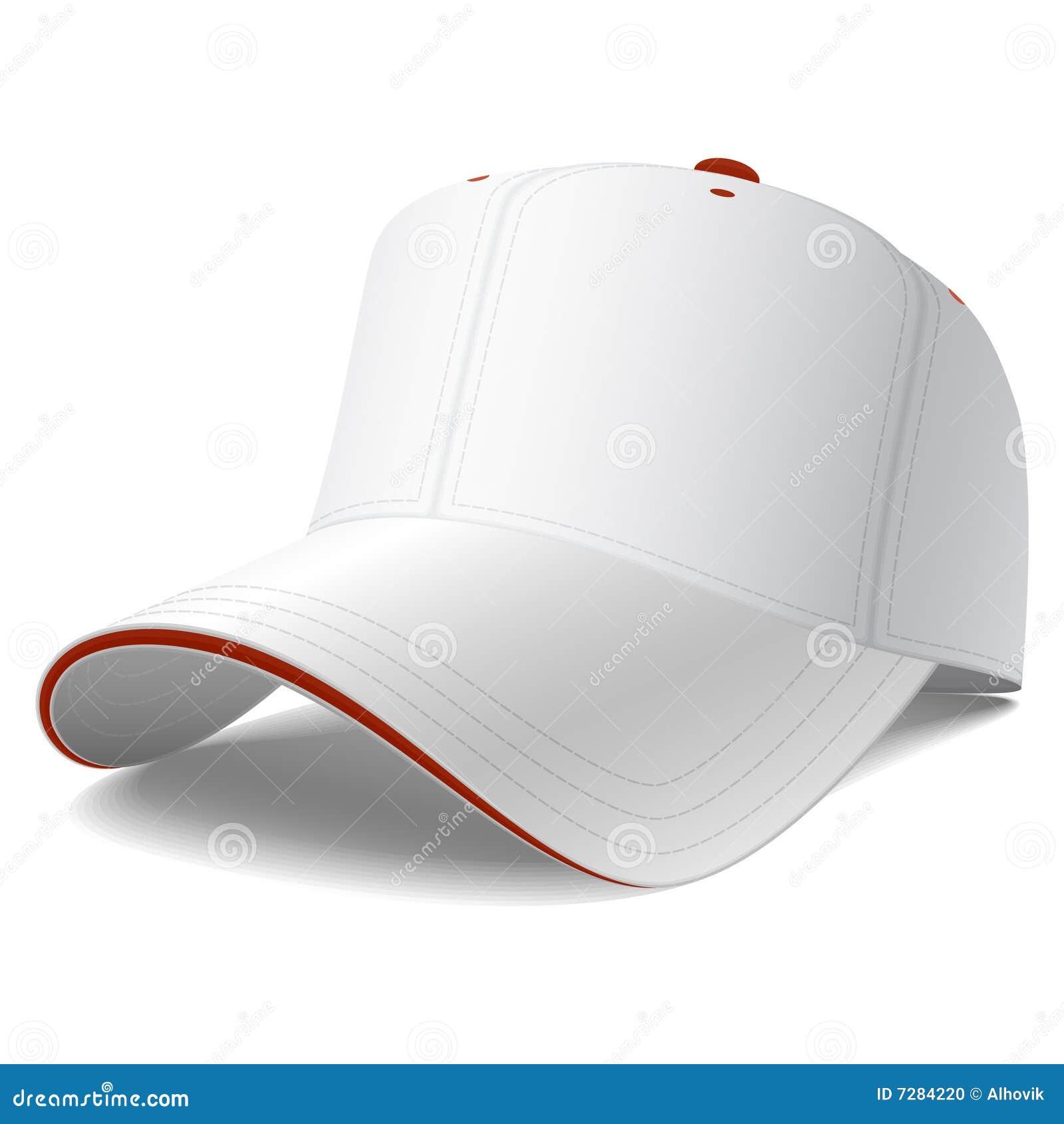 Gorra de béisbol del blanco del vector