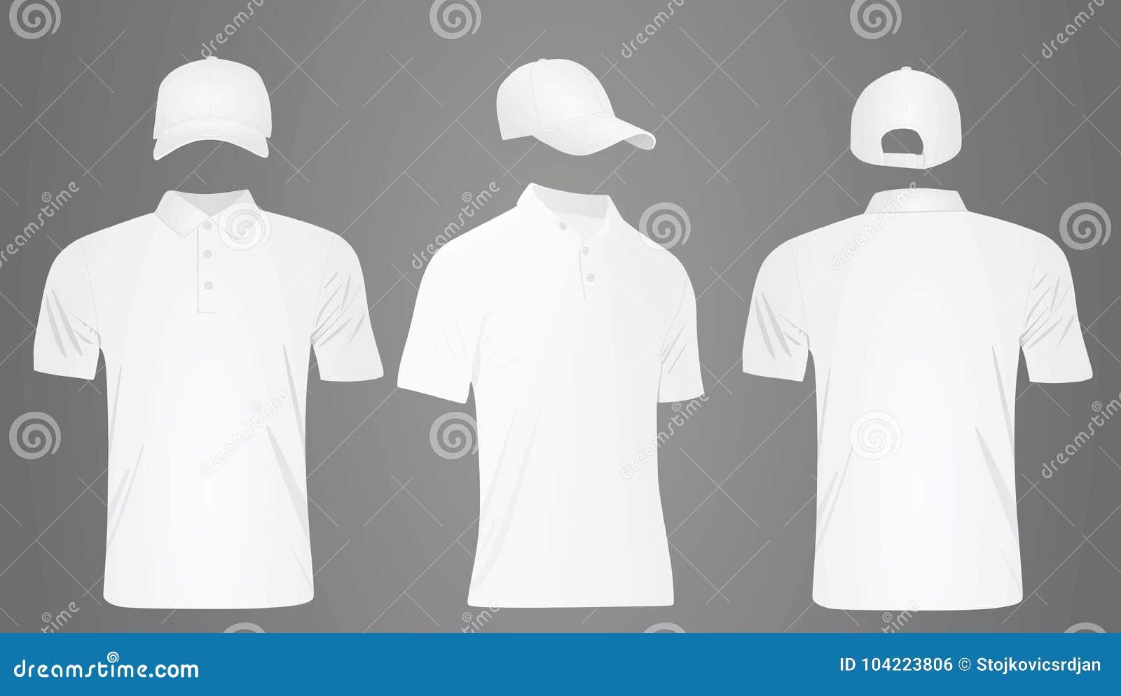 Gorra De Béisbol Y Camiseta Blancas Ilustración del Vector ...