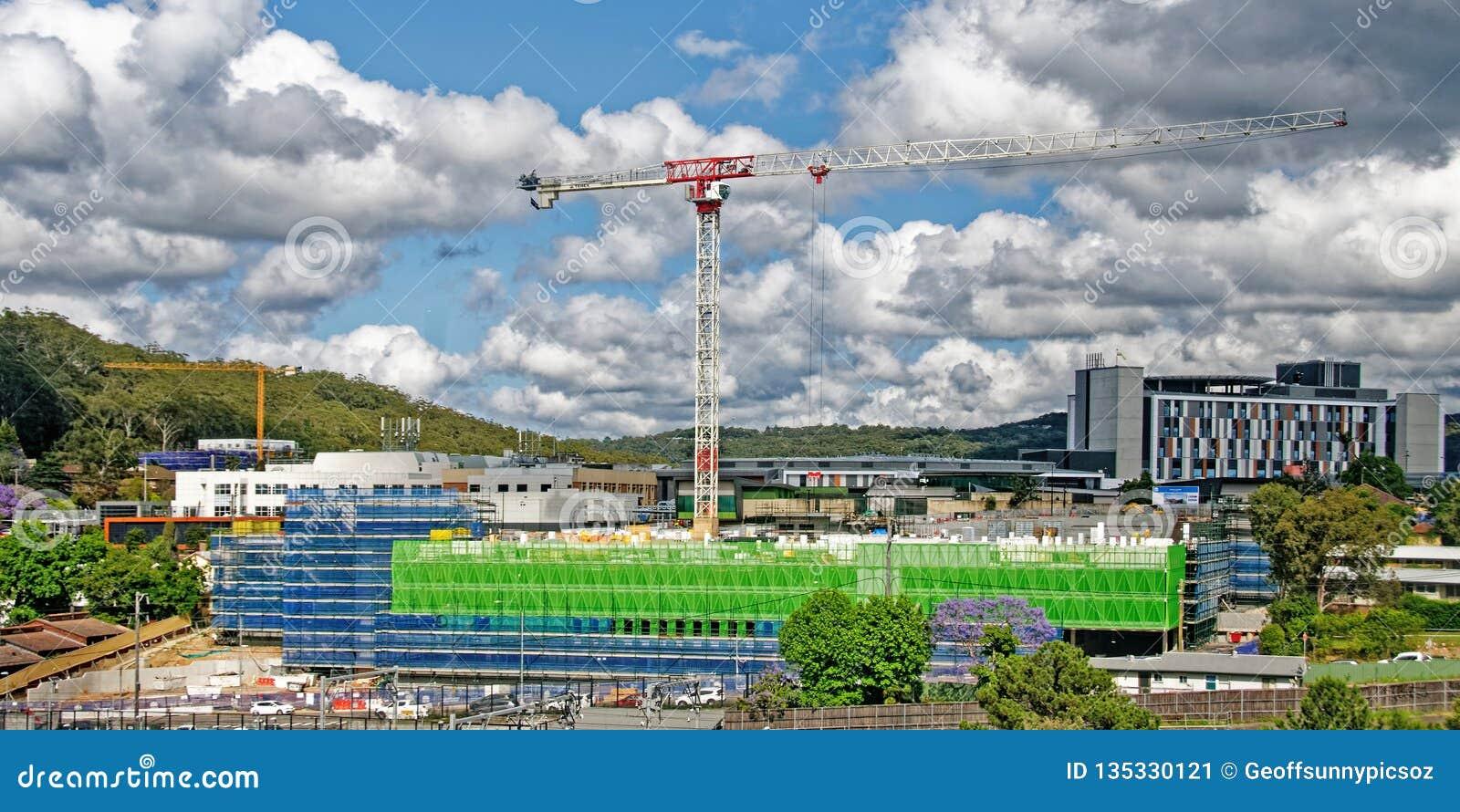 Gosford Hospital building progress H65ed November 2018