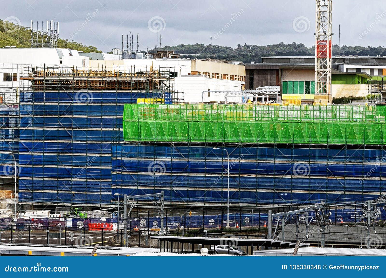 Gosford Hospital building progress H64ed November 2018