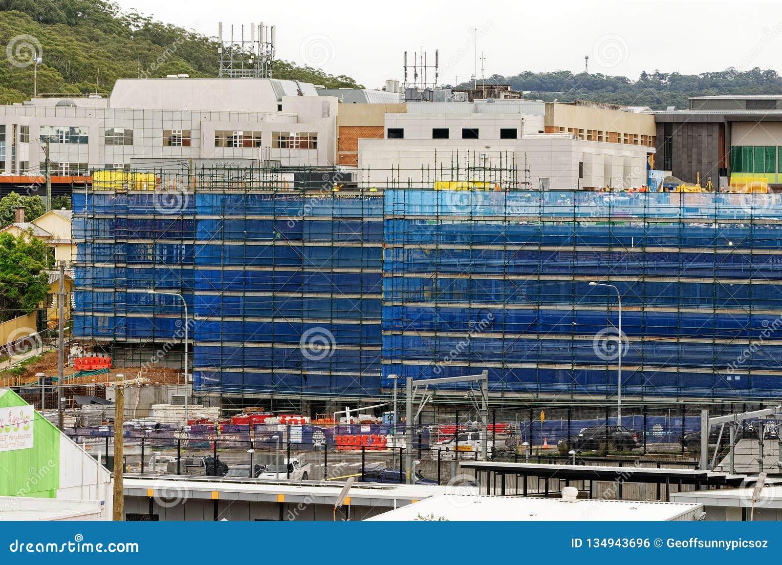 Gosford Hospital building progress H47ed October 2018