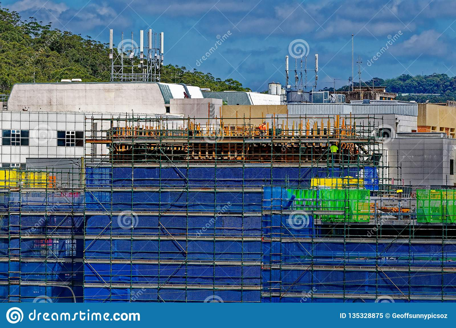 Gosford Hospital building progress H59ed October 2018