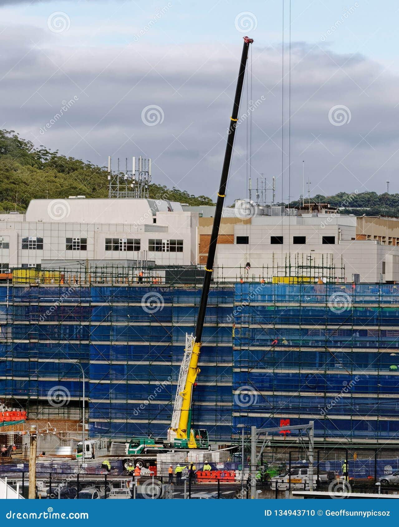 Gosford Hospital building progress H49ed October 2018