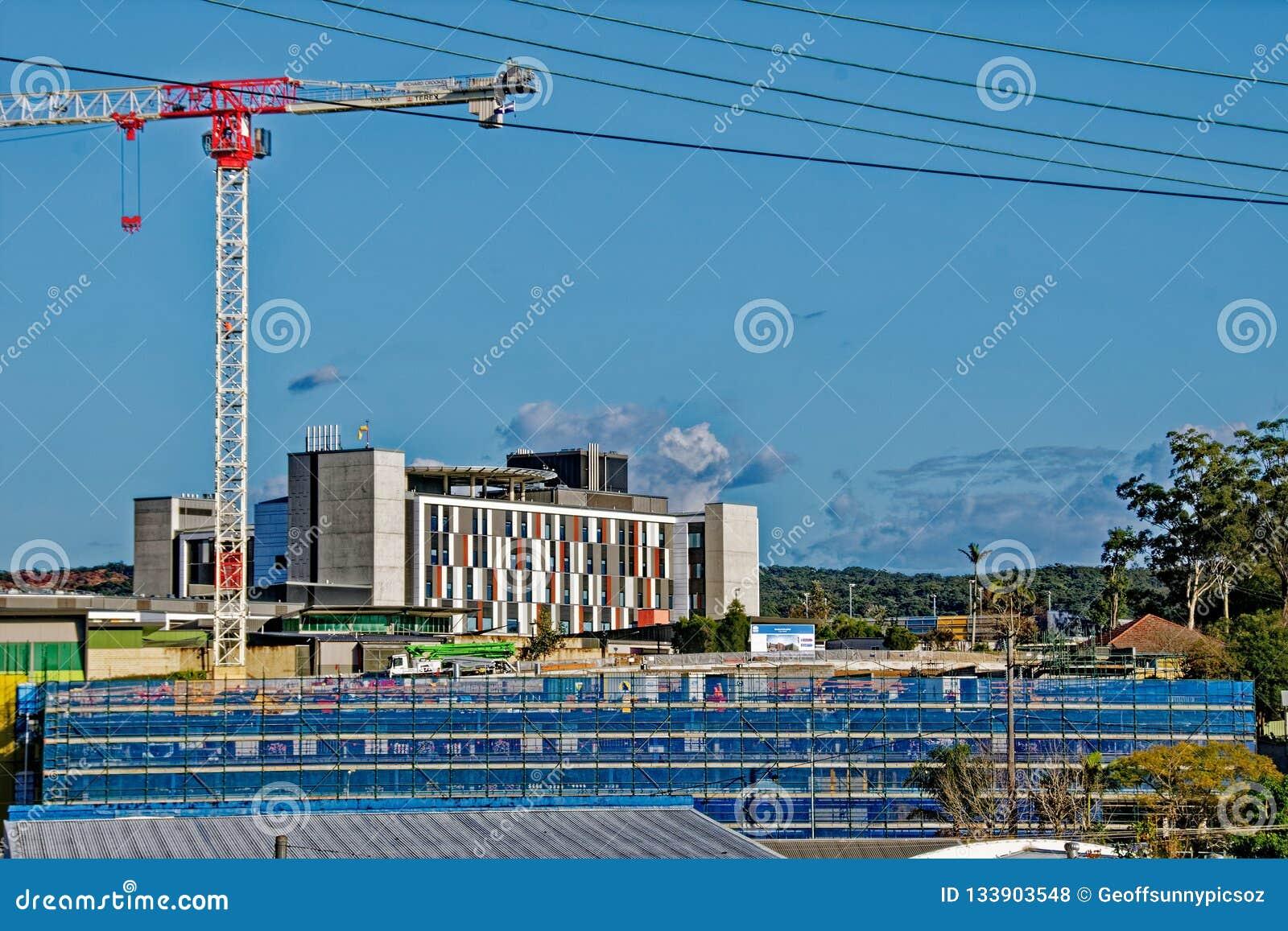 Gosford Hospital building progress H25ed September 2018