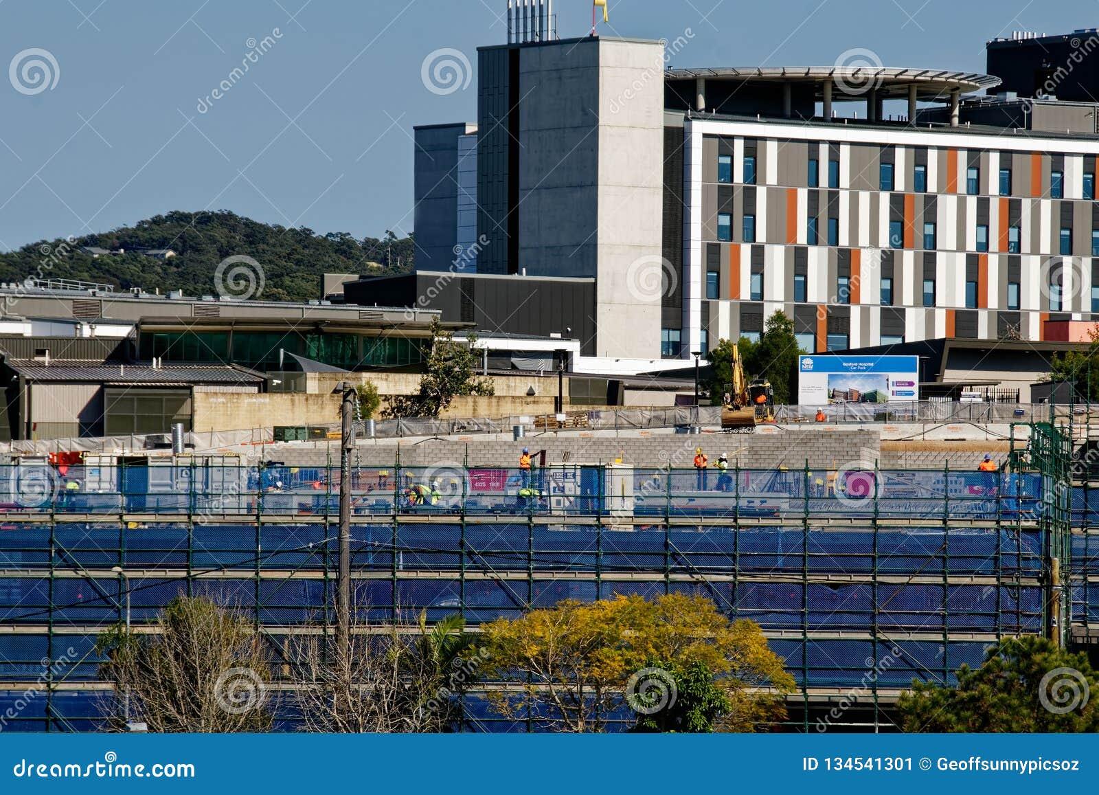 Gosford Hospital building progress H29ed September 2018